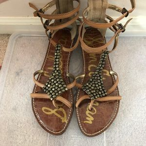 Sam Edelman Beaded Gladiator Sandals- Size 9M